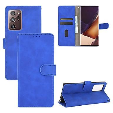 Недорогие Чехол Samsung-чехол для samsung galaxy note20 ultra / note10 pro / 10 plus / 10 / s20 plus / 10 e / 10 plus / a91 / a81 / a71 / a51 / a41 / a31 / m31 / a90 / a20 держатель карты противоударный откидной чехол для