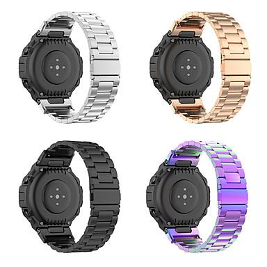 baratos Pulseira para Amazfit-pulseira de relógio de substituição pulseira de aço inoxidável para pulseira de metal huami amazfit t-rex a1918
