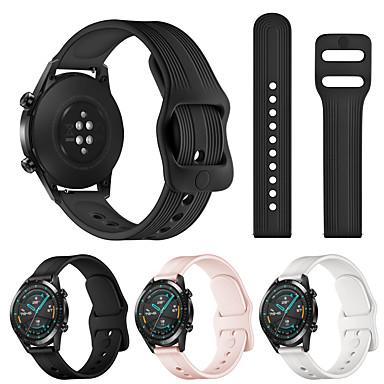 Недорогие Ремешки для часов Huawei-Ремешок для часов для Huawei Watch GT 2 Huawei Спортивный ремешок силиконовый Повязка на запястье