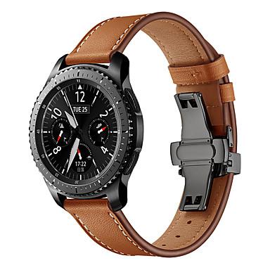 Недорогие Аксессуары для смарт-часов-ремешок для часов для samsung gear s3 samsung galaxy кожаный ремешок из натуральной кожи ремешок на запястье