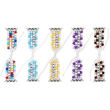 Недорогие Ремешки для Apple Watch-Diy lucky beads плетеные для apple watch series 5/4/3/2/1 эластичный ремешок для iwatch 38 мм / 40 мм / 42 мм / 44 мм женский браслет ручной работы для девочек