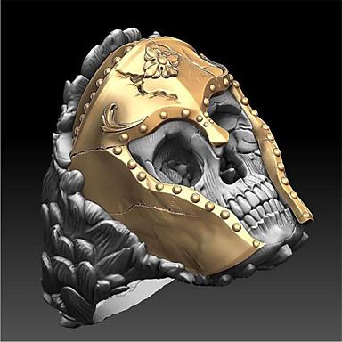 hesapli Erkek Takıları-Yüzük Klasik Altın Bakır Altın Kaplama Kurukafa Moda 1pc 9 10 11 12 / Erkek