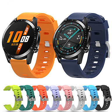 abordables Bracelets pour Huawei-Bracelet de Montre  pour Huawei Watch GT / huawei honor Magic Huawei Bracelet Sport Silikon Sangle de Poignet