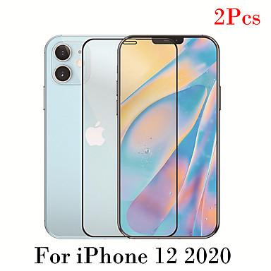 Недорогие Защитные плёнки для экрана iPhone-2 шт. Закаленное стекло для iphone 12 11 pro max защитное стекло для экрана 9h закаленное стекло премиум-класса для iphone x xs xsr xs max se 2020 8 7 6 plus защитная пленка