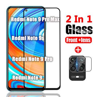 Недорогие Защитные плёнки для экранов Xiaomi-1/2/3 шт. 2в1 защитное стекло на xiaomi redmi note 9 pro max закаленное стекло для xiomi redmi note 9 pro / note 9s задняя камера объектива экран протектор