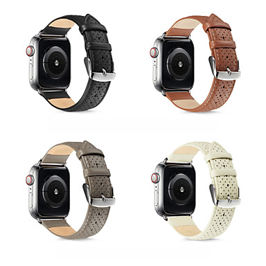 abordables Correas para Apple Watch-Ver Banda para Apple Watch Series 5/4/3/2/1 Apple Correa de Cuero Cuero Auténtico Correa de Muñeca