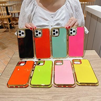 Недорогие Кейсы для iPhone-чехол для iphone 6 6s 7 8 6plus 6splus 7plus 8plus iphone 11 iphone 11 pro iphone 11 pro max противоударное покрытие задняя крышка сплошной цвет тпу
