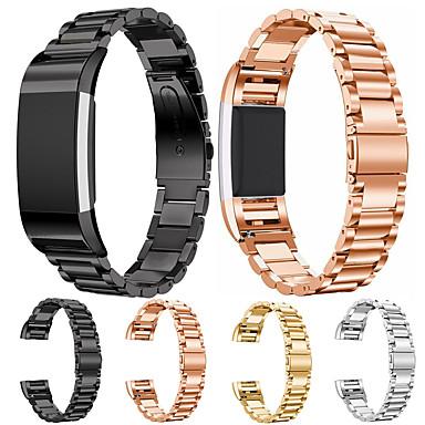 Недорогие Аксессуары для смарт-часов-Ремешок для часов для Fitbit заряд2 Fitbit Современная застежка Нержавеющая сталь Повязка на запястье