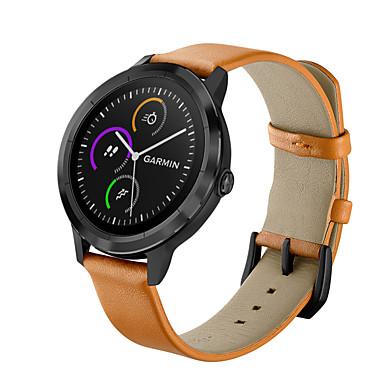Недорогие Аксессуары для смарт-часов-Ремешок для часов для Vivoactive HR / Vivoactive 3 Garmin Кожаный ремешок Натуральная кожа Повязка на запястье