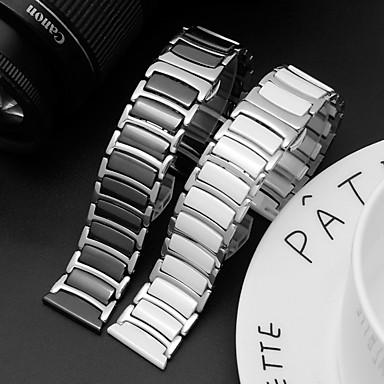 Недорогие Аксессуары для смарт-часов-ремешок для часов Gear s3 frontier classic samsung galaxy business band керамический ремешок из нержавеющей стали