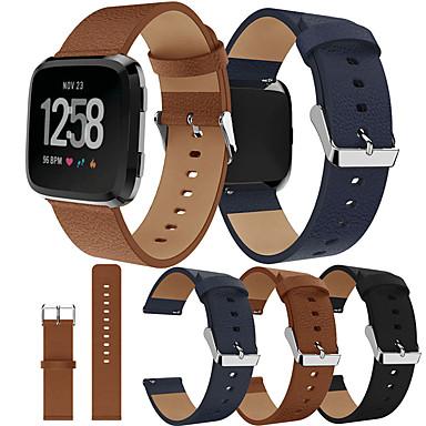 Недорогие Ремешки для спортивных часов-Ремешок для часов для Fitbit Versa / Fitbi Versa Lite / фитбит наоборот 2 Fitbit Спортивный ремешок Натуральная кожа Повязка на запястье