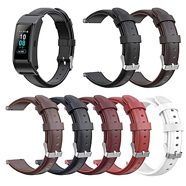 cheap Watch Bands for Huawei-Watch Band for Huawei Fit / Huawei Honor S1 / Huawei B5 Huawei Classic Buckle Genuine Leather Wrist Strap