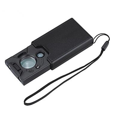 ieftine Electrice & Ustensile-De 30 de ori de 45 de 60 de ori de trei ori lentile de trei ori sertar extensibil pentru inspecția banilor lupă de identificare cu leduri