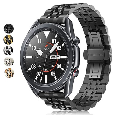 Недорогие Аксессуары для смарт-часов-Ремешок для часов для Samsung Galaxy Watch 46 / Samsung Galaxy Watch 42 / Samsung Galaxy Watch Active Samsung Современная застежка / Бизнес группа Нержавеющая сталь Повязка на запястье