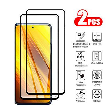 economico Proteggi-schermo Xiaomi-XIAOMIScreen ProtectorXiaomi Poco X3 NFC Alta definizione (HD) Proteggi-schermo frontale 2 pcs Vetro temperato