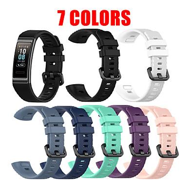 Недорогие Ремешки для часов Huawei-Ремешок для часов для Huawei Band 3 Pro Huawei Спортивный ремешок силиконовый Повязка на запястье