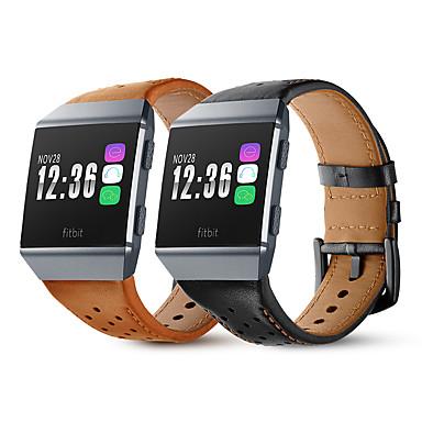 Недорогие Аксессуары для смарт-часов-Ремешок для часов для Fitbit ionic Fitbit Кожаный ремешок Натуральная кожа Повязка на запястье