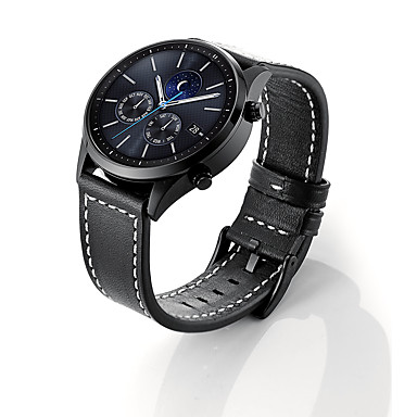 Недорогие Аксессуары для смарт-часов-Ремешок для часов для Samsung Gear S3 Samsung Galaxy Кожаный ремешок Натуральная кожа Повязка на запястье