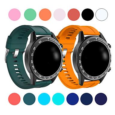 Недорогие Ремешки для часов Huawei-Спортивный силиконовый ремешок для часов 22 мм для часов huawei gt2 46 мм / gt active / classic honor magic быстросъемный браслет ремешок для смарт-часов