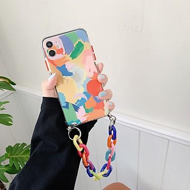 Недорогие Кейсы для iPhone-чехол для iphone 7 8 7plus 8plus x xr xs xsmax se (2020) iphone 11 11pro 11promax противоударный ультратонкий узор задняя крышка с геометрическим рисунком тпу