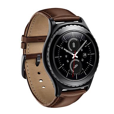 Недорогие Аксессуары для смарт-часов-Ремешок для часов для Gear S2 Samsung Galaxy Кожаный ремешок Натуральная кожа Повязка на запястье