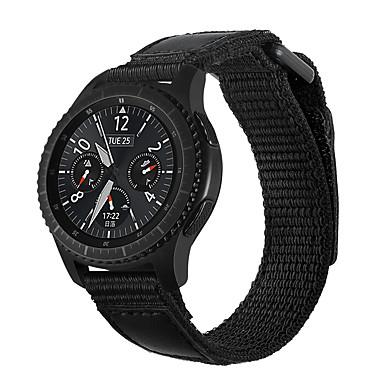 Недорогие Ремешки для часов Huawei-Ремешок для часов для Samsung Gear S3 Samsung Galaxy Бизнес группа Нейлон Повязка на запястье