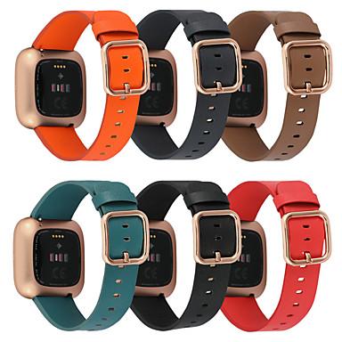Недорогие Аксессуары для смарт-часов-Ремешок для часов для Fitbit Versa / Fitbit Versa Lite / фитбит наоборот 2 Fitbit Классическая застежка Натуральная кожа Повязка на запястье