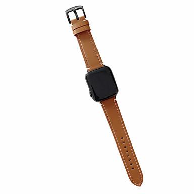 Недорогие Аксессуары для мобильных телефонов-Ремешок для часов для Серия Apple Watch 5/4/3/2/1 Apple Бизнес группа Натуральная кожа Повязка на запястье