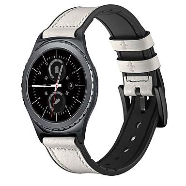Недорогие Аксессуары для смарт-часов-ремешок для часов samsung galaxy watch 46 мм samsung galaxy watch 42 мм samsung galaxy классическая пряжка ремешок из натуральной кожи