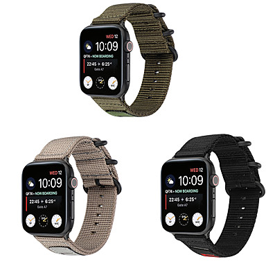 Недорогие Аксессуары для смарт-часов-ремешок для часов apple watch series 5/4/3/2/1 apple classic пряжка нейлоновый ремешок на запястье