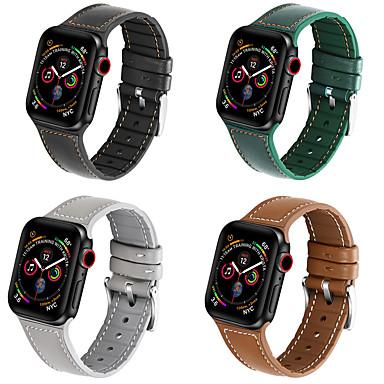 billige Apple Watch-remmer-klokkerem for apple klokker serie 5/4/3/2/1 apple classic spenne vattert pu lær / silikon håndleddsstropp