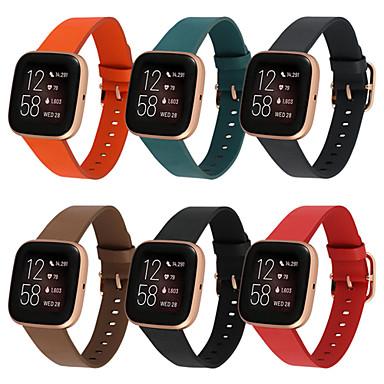 Недорогие Аксессуары для смарт-часов-Ремешок для часов для Fitbit Versa / Fitbi Versa Lite / Fitbit Versa 2 Fitbit Кожаный ремешок Натуральная кожа Повязка на запястье