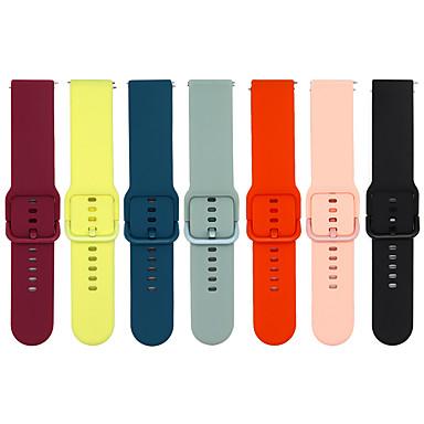 Недорогие Аксессуары для мобильных телефонов-Ремешок для часов для Gear 2 R380 / Samsung Galaxy Watch 46 / Galaxy Gear S3 Samsung Galaxy Классическая застежка силиконовый Повязка на запястье