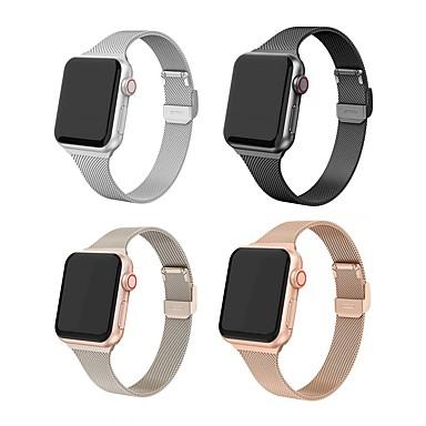 Недорогие Ремешки для Apple Watch-Ремешок для часов Apple Watch Band 44/40 мм 38/42 мм металлический браслет из нержавеющей стали для Apple Watch 6 5 4 3 2 1
