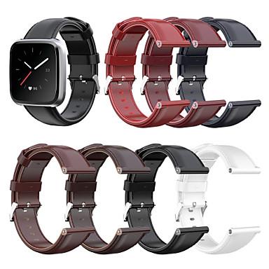 povoljno Nova kolekcija-Pogledajte Band za Fitbit Versa / Fitbit Versa Lite / Fitbit Versa 2 Fitbit Klasična kopča Prava koža Traka za ruku