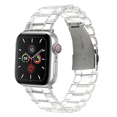 Недорогие Ремешки для Apple Watch-Ремешок для Apple Watch, ремешок 44/40 мм, ремешок iwatch 42/38 мм, прозрачный ремешок из смолы, браслет для серии Apple Watch 6 5 4 3 2 1