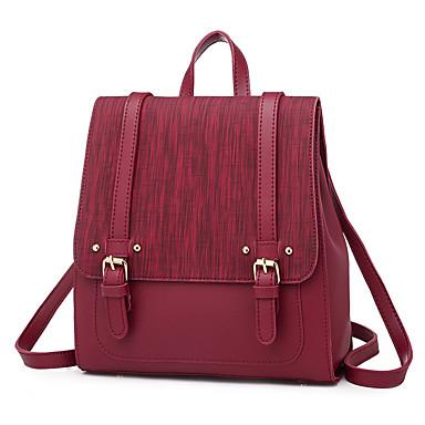 billige Rejsetasker-Rejsetaske College bogtaske Stor kapacitet Vandtæt Afslappet Udendørs Rejse PU Læder Vintage Mode Gave Til Dame 35*20*24 cm