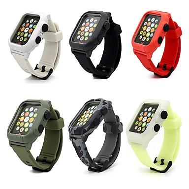Недорогие Ремешки для Apple Watch-Ремешок для часов для Apple Watch Series 6 / SE / 5/4 44 мм / Apple Watch Series 6 / SE / 5/4 40 мм / Apple Watch Series 3/2/1 38 мм Apple Классическая застежка силиконовый Повязка на запястье
