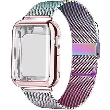 Недорогие Ремешки для Apple Watch-Ремешок для часов для Apple Watch Series 6 / SE / 5/4 44 мм / Apple Watch Series 6 / SE / 5/4 40 мм Apple Миланский ремешок Нержавеющая сталь Повязка на запястье