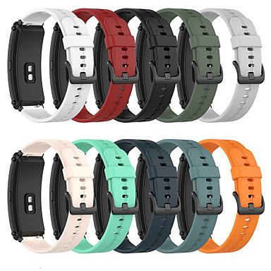 Недорогие Ремешки для часов Huawei-Силиконовый ремешок для huawei band b6 b3 ремешок сменный браслет 16 мм петля ремень аксессуары для умных часов