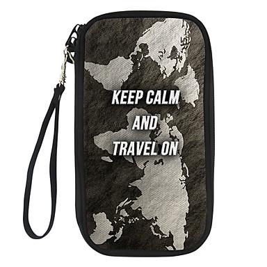 levne Cestovní tašky-Cestovní peněženka Pouzdro na doklady Organizátor dokumentů Voděodolný Zajištěné proti ukradení Blokování RFID Neformální cestování Nylon Módní Dárek Pro Dámy a pánové