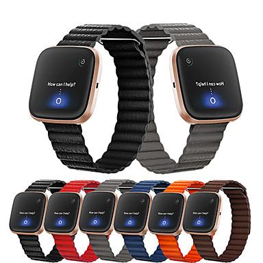 Недорогие Аксессуары для мобильных телефонов-Ремешок для часов для Fitbit Versa / Fitbit Versa Lite / Fitbit Versa 2 Fitbit Кожаный ремешок Натуральная кожа Повязка на запястье