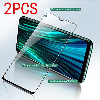 abordables Accesorios para teléfono móvil-2pcs xiaomi protector de pantalla xiaomi redmi note 9 pro max / note 8t / note 7s / note 6 / note 5a protector de pantalla frontal de alta definición (hd) vidrio templado pantalla mejorada de segunda