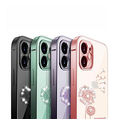 Недорогие Кейсы для iPhone-Кейс для Назначение Apple iPhone 12 / iPhone 12 Mini / iPhone 12 Pro Max Защита от удара / Покрытие / Прозрачный Кейс на заднюю панель Цветы ТПУ