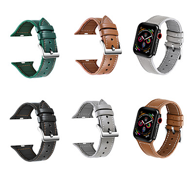 Недорогие Ремешки для Apple Watch-Ремешок для часов для Apple Watch Series 6 / SE / 5/4 44 мм / Apple Watch Series 6 / SE / 5/4 40 мм / Apple Watch Series 3/2/1 38 мм Apple Классическая застежка Стеганная ПУ кожа Повязка на запястье