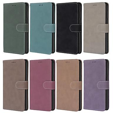 Недорогие Чехлы и чехлы-Кейс для Назначение SSamsung Galaxy S9 / S9 Plus / S8 Plus Кошелек / Бумажник для карт / Защита от удара Чехол Однотонный Кожа PU / ТПУ