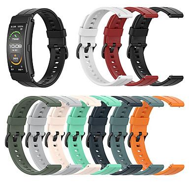 billige Klokkeremmer til Huawei-Klokkerem til Huawei B3 / Huawei Band B6 Huawei Sportsrem / Klassisk spenne Silikon Håndleddsrem