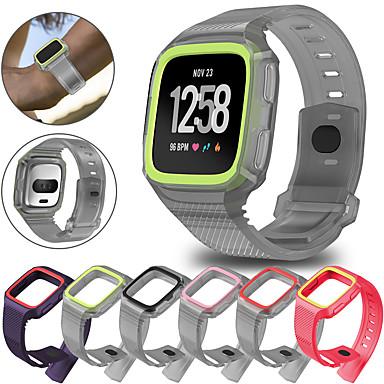 voordelige Mobiele telefoon-accessoires-Case met band Voor Fitbit Versa / Fitbit Versa Lite / fitbit versa 2 Siliconen verenigbaarheid Fitbit