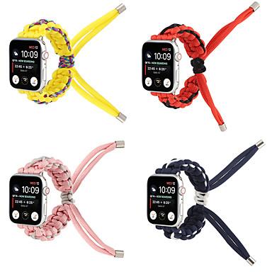 Недорогие Ремешки для Apple Watch-Ремешок для часов для Apple Watch Series 6 / SE / 5/4 44 мм / Apple Watch Series 6 / SE / 5/4 40 мм / Apple Watch Series 3/2/1 38 мм Apple Инструменты сделай-сам Материал Повязка на запястье