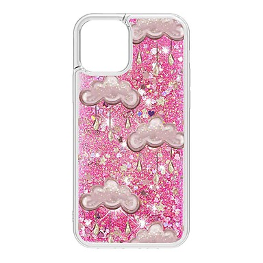 cheap iPhone Cases-Case For Apple iPhone 12 / iPhone 12 Mini / iPhone 12 Pro Max Flowing Liquid / Pattern / Glitter Shine Back Cover Scenery TPU